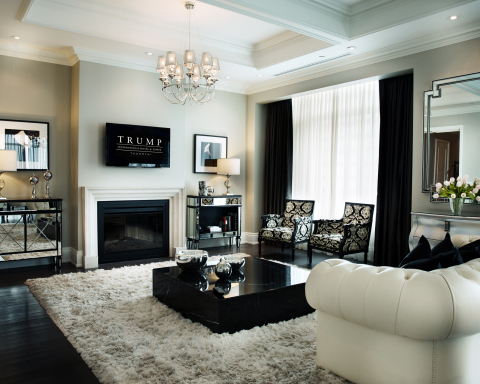 Furnished model suite residence at the Trump Residences Toronto (Photo: Business Wire)