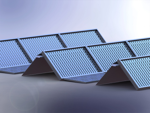 Skyven's dual-purpose solar panel system simultaneously produces energy for both electrical power an