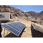 """IEEE Smart Village, Global Himalayan Expedition's """"E-Base"""" in Leh, India. (Photo: Business Wire)"""