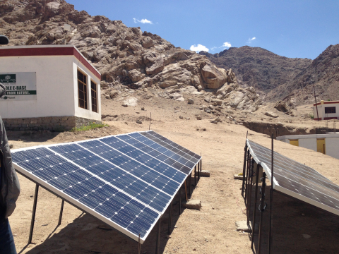 "IEEE Smart Village, Global Himalayan Expedition's ""E-Base"" in Leh, India. (Photo: Business Wire)"