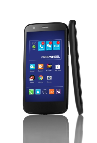 Cablevision Systems Corporation today announced the upcoming launch of Freewheel, a new low-cost all-WiFi phone service providing unlimited data, talk and text. Freewheel will be available for purchase nationwide starting next month at Freewheel.com. (Graphic: Business Wire)