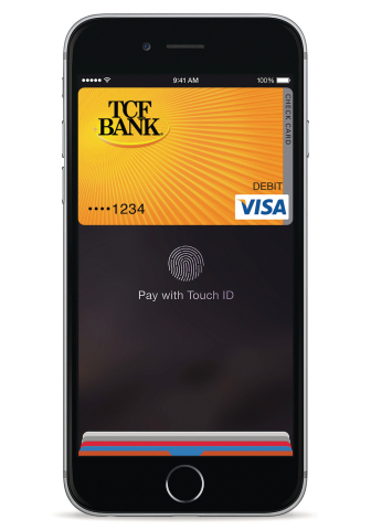 TCF Bank integrates Apple Pay with its debit and credit cards. (Photo: TCF Financial Corporation)