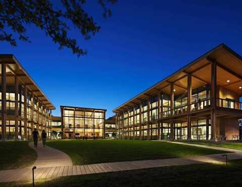 WoodWorks Wood Design Award, Jury's Choice, Live Oak Bank Headquarters, Wilmington, NC (Photo: Mark Herboth)