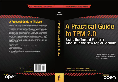 "IT professionals and developers can get started now with useful applications in ""A Practical Guide to TPM 2.0: Using the Trusted Platform Module in the New Age of Security"" (Graphic: Business Wire)"