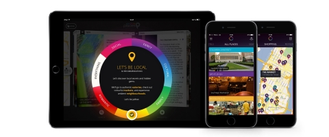 The momondo places app is available free for iPhone and iPad, offering travel tips for 11 major cities, based on the traveler's mood. (Photo: Business Wire)