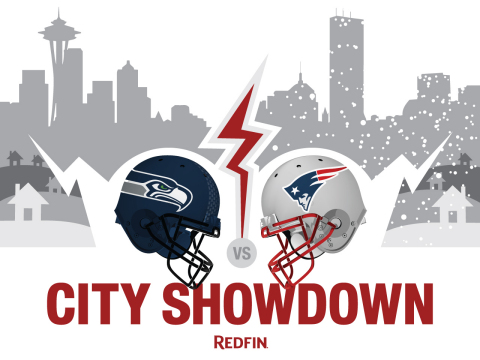 Redfin compares what life is like in Seattle and Boston in anticipation of the big game. (Graphic: Business Wire)