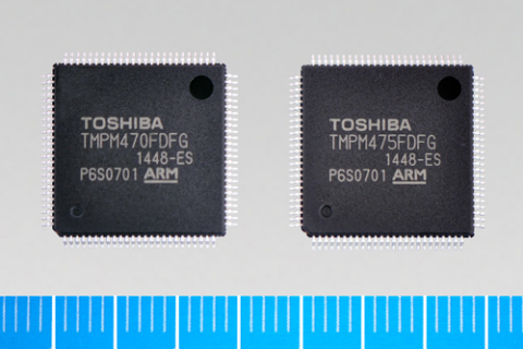 """Toshiba: new microcontrollers """"TMPM470FDFG"""" and """"TMPM475FDFG"""" for home appliances and factory automation systems. (Photo: Business Wire)"""