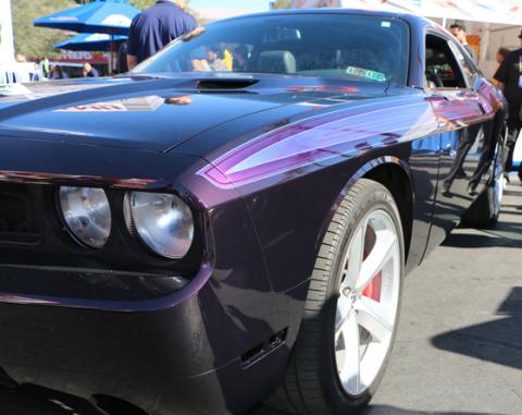 Axalta Cromax® Pro paint shines brilliantly on Rachel De Barros' 2010 Dodge Challenger SRT8 (Photo: Business Wire)