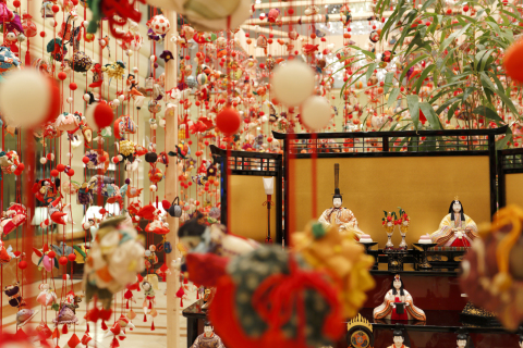 Splendid dolls hanging colorfully decorate the lobby (Photo: Business Wire)