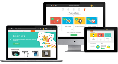 Rally is a digital health platform that encourages healthy decisions through intuitive online tools, personalized recommendations and outcome-based rewards. The platform includes a health assessment. Based on the consumer's self-reported and digitally captured data, Rally provides multiple layers of engagement through rewards, coaching, tools, community and content that promote healthy lifestyle behaviors. (Photo: Business Wire)