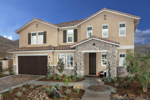A 3,379 square foot KB home modeled at the builder's Presidio Point at Spring Mountain Ranch communi