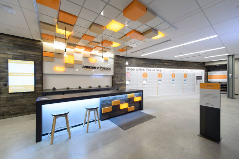 Amazon Launches First-Ever Staffed Campus Pickup and Drop-Off Location, Free One-Day Pickup at Purdue University. (Photo: Business Wire)
