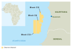 The deepwater blocks off the coast of Mauritania cover a contiguous area of approximately 6.6 million gross acres. (Graphic: Business Wire)