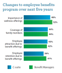 Wells Fargo Insurance Employee Benefits Trends Survey: Wellness programs will be a top priority for companies over the next five years (Graphic: Business Wire)