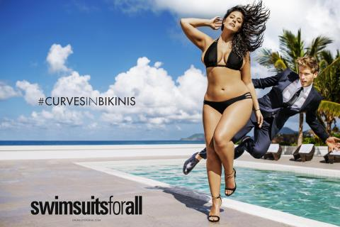 swimsuitsforall's #CurvesinBikinis campaign for the brand's Swim Sexy line features Ashley Graham. The campaign debuts in Sports Illustrated's Swimsuit Edition. (Photo: Business Wire)
