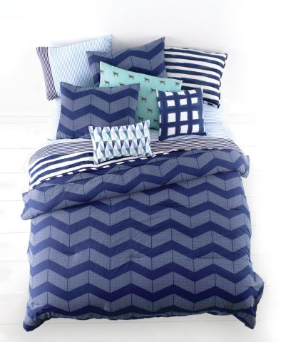 Introducing the new Whim™ collection by Martha Stewart, now available exclusively at macys.com and in select Macy's stores March 2015. Shown: Whim Spot Chevron Comforter Set $140-$200. (Photo: Business Wire)