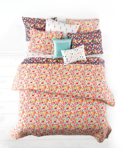 Introducing the new Whim™ collection by Martha Stewart, now available exclusively at macys.com and in select Macy's stores March 2015. Shown: Whim Pretty in Poppy Comforter Set $140-$200. (Photo: Business Wire)