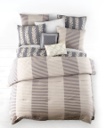 Introducing the new Whim™ collection by Martha Stewart, now available exclusively at macys.com and in select Macy's stores March 2015. Shown: Whim Two-Tone Stripe Comforter Set $140-$200. (Photo: Business Wire)