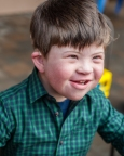 Joshua Copen, 5, born with Down syndrome and hearing loss, has a significantly improved quality of life, thanks to cochlear implants. (Photo: Business Wire)