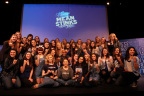 Secret Mean Stinks partners with stars from upcoming comedy 'The DUFF' to inspire more than 20,000 students from around the country to 'gang up for good' and end bullying and mean behavior during the Biggest. Assembly. Ever. (Photo: Business Wire)
