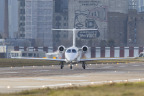 """NetJets Europe flies first Phenom 300 jet into London City Airport"" (Photo: Business Wire)"