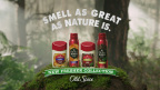 "Still from Old Spice Fresher Collection creative spot ""Woods,"" depicting Old Spice Fresher Collection scents Timber and Amber. The Fresher Collection is available at retail now. (Photo: Business Wire)"