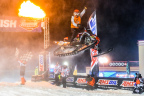 Axalta snocross driver Ross Martin celebrates his first Pro Open win of the season at Shakopee, Minnesota. (Photo: Business Wire)