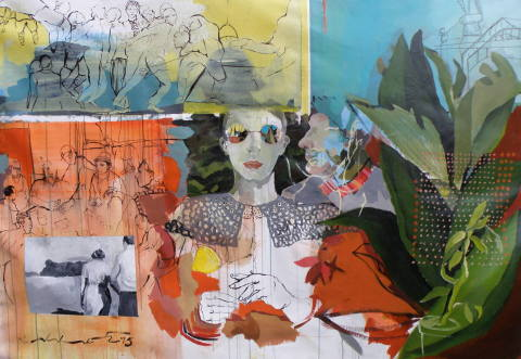 Golnaz Afraz (France) wins Saatchi Art's international Showdown art competition with her painting