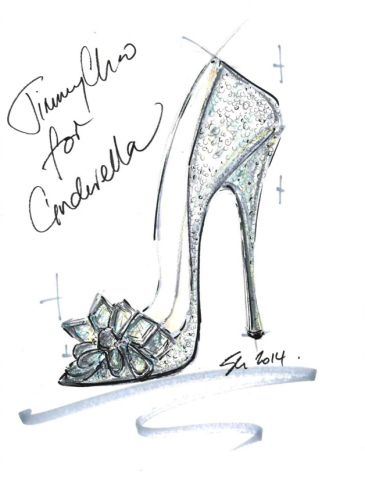 """""""I think every girl desires a Cinderella moment in their lives. This story ignites a love affair and fascination with shoes that never dies. The power they have to transform is instilled from a young age and the fantasy remains alive forever. I wanted to create a shoe that felt magical, with alluring sparkle and a feminine, timeless silhouette evoking those childhood emotions."""" -Sandra Choi, Creative Director Jimmy Choo (Graphic: Business Wire)"""
