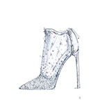 """Cinderella in 2015 has a timeless appeal. The diamond and translucent bootie enhance the vision I have of her."" -Stuart Weitzman (Graphic: Business Wire)"