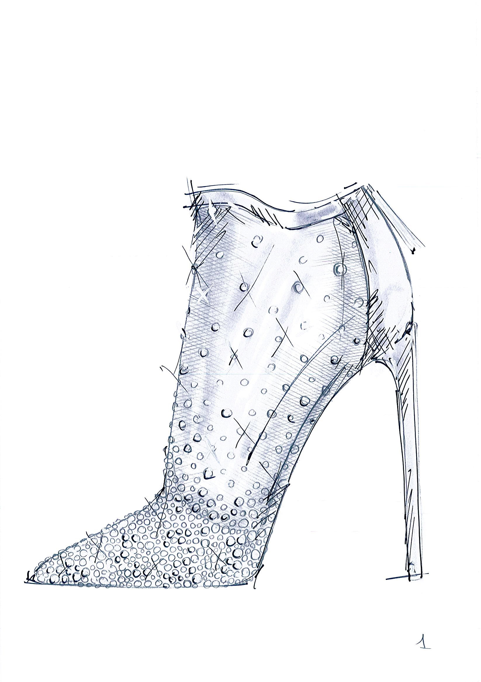 """""""Cinderella in 2015 has a timeless appeal. The diamond and translucent bootie enhance the vision I have of her."""" -Stuart Weitzman (Graphic: Business Wire)"""