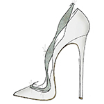 """My vision of the glass slipper was inspired by the timeless and feminine beauty that I believe Cinderella and the Alexandre Birman brand both share. I reinterpreted our classic Johanna pump, this time giving it a fashionable and romantic twist with satin and Swarovski crystals. It's a shoe I imagine a modern princess would wear."" -Alexandre Birman (Graphic: Business Wire)"