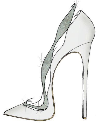 """""""My vision of the glass slipper was inspired by the timeless and feminine beauty that I believe Cinderella and the Alexandre Birman brand both share. I reinterpreted our classic Johanna pump, this time giving it a fashionable and romantic twist with satin and Swarovski crystals. It's a shoe I imagine a modern princess would wear."""" -Alexandre Birman (Graphic: Business Wire)"""