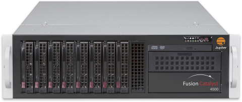 Jupiter Systems Announces an Expanded Fusion Catalyst(TM) 4500 Family of Products. New specialized models offer support for Jupiter's ControlPoint(TM) display wall management software, Jupiter Canvas collaborative visualization solutions, and HDCP-protected content. (Photo: Business Wire)