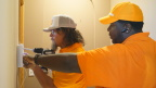 Undercover CEO Todd Pedersen installs a Vivint smart home system with a field service professional (Photo: Courtesy of CBS)