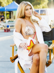 Charlotte McKinney stars in the record-setting Carl's Jr. All-Natural Burger ad for the Big Game. (Photo Credit: Fab Fernandez and CKE Restaurants)