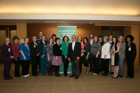 Twenty-two nurses of Swedish Medical Center received the DAISY Award for Extraordinary Nurses, presented by The DAISY Foundation and UnitedHealthcare, at a special ceremony today at Swedish Medical Center in Seattle (Photo: Kim Doyel).