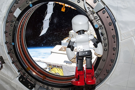 Kirobo in the ISS just before his return to Earth (Photo: Business Wire)
