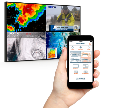New iOS App for Planar UltraRes 4K LCD Displays (Photo: Business Wire)