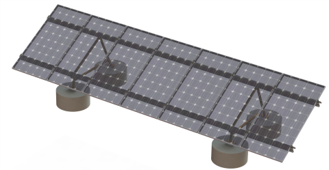 The new SunLink cast-in-place Ballasted GMS foundation option reduces foundation costs by up to 20 percent. This latest enhancement for the market-leading ballasted ground mount product from SunLink, proven in over 50 MW of installations in North America, offers increased flexibility and lowered costs for solar developers. (Photo: Business Wire)