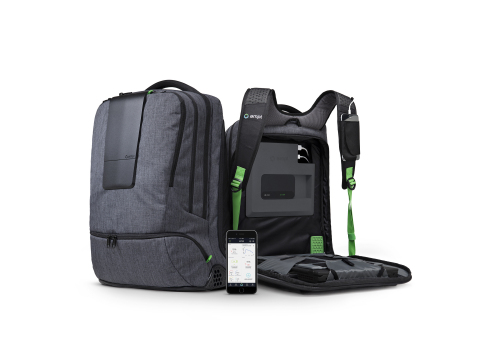 AMPL Labs has exceeded the initial goal of its Indiegogo crowdfunding campaign to support development of its innovative AMPL SmartBackpack, raising more than $125,000 in contributions in just four days. (Photo: Business Wire)