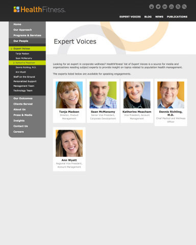 HealthFitness Launches Expert Voices Group (Graphic: HealthFitness)