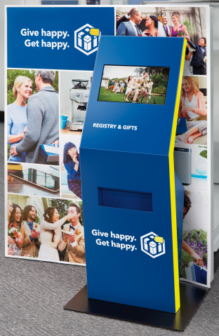 By early April, in-store kiosks in all Best Buy locations will help registrants and gift-givers view and print wedding registry lists. (Photo: Best Buy)
