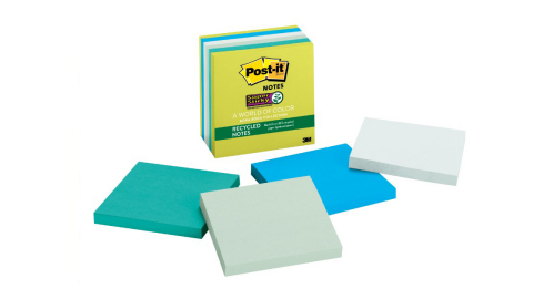 Post-it Notes from the new Post-it Brand World of Color Bora Bora collection (Photo: 3M)