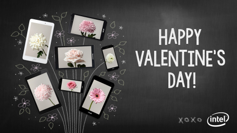 Happy Valentine's Day from Intel (Photo: Business Wire)