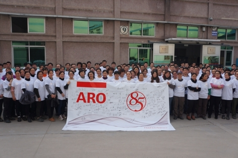 ARO team members in Guilin, China, celebrate the company's 85th anniversary (Photo: Business Wire)