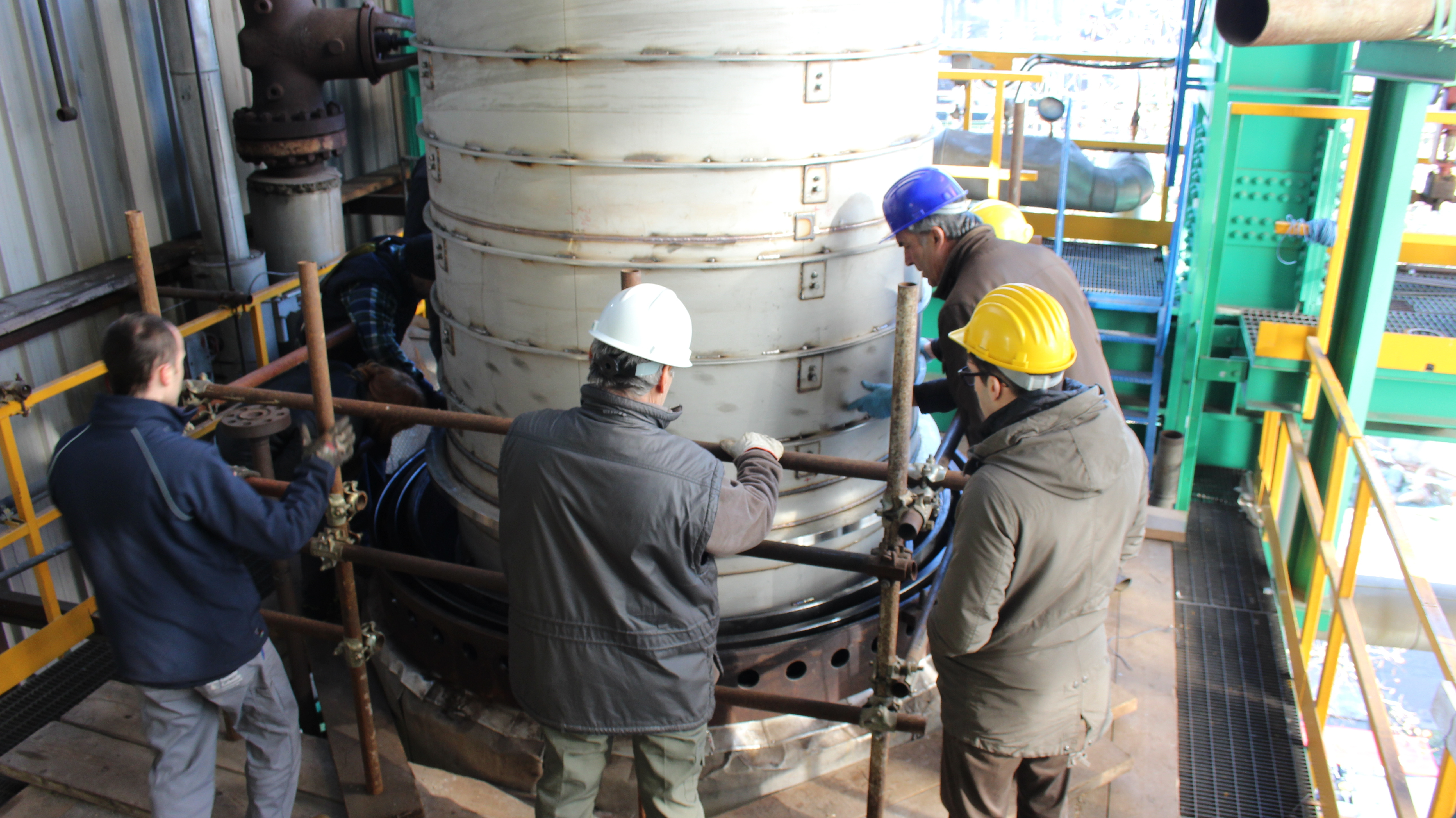 NuScale Power Successfully Installs Full Length Helical Coil Steam