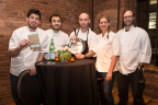 Chef Vinson Petrillo of Charleston, SC secures his place in the S.Pellegrino Young Chef 2015 finals after presenting a signature dish to judges Chef Blaine Wetzel, Chef Paul Qui, Chef Amanda Freitag and Chef Wylie Dufresne at Astor Center in New York City on February 10, 2015. (Photo: Business Wire)