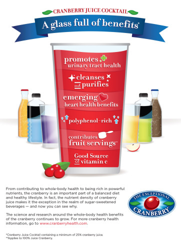 Rich in powerful nutrients, cranberry juice cleanses, purifies and promotes heart health. For information on the health benefits of cranberries, visit www.cranberryhealth.com. (Graphic: Business Wire)