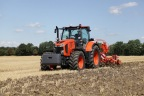 Kubota debuts M7-Series mid-range tractor line, highest horsepower to-date. (Photo: Business Wire)